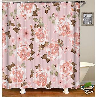 Classic Pinkish Flowers Shower Curtain