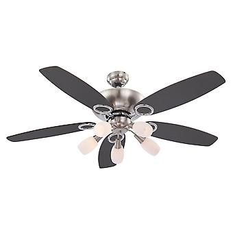 """Ceiling fan Jerry 130cm / 51"""" with light and pull cords"""
