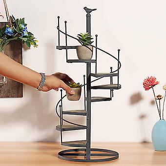 Sukkulenten Regal 8 Schicht Treppe Form Desktop Garten Blume Stand + Holzplatte