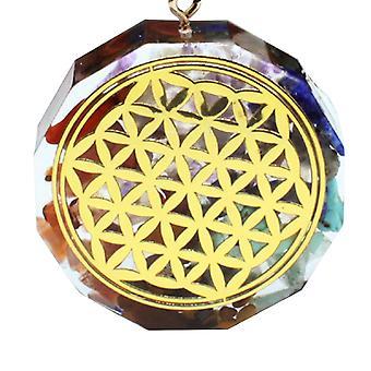 Sieben Chakra Anhänger natürliche Kristall Meditation Halskette