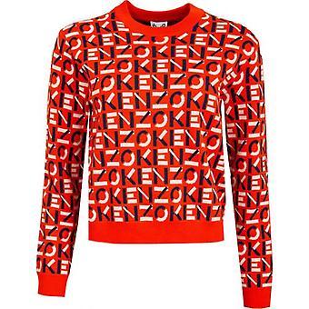 Kenzo Monogram Logo Knitted Sweat