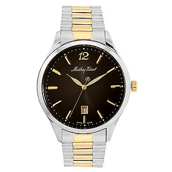 Mathey Tissot Men's Urban Metal Black Dial Watch - H411MBN