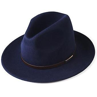 Hat, Men, Wool Felt Wide Brim, Vintage Jazz Fedora Couple Cap