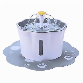 التلقائي الكهربائية المياه موزع تغذية وعاء للقطط الكلاب الحيوانات الأليفة متعددة 2.6l