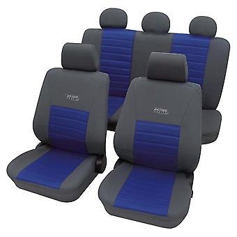 Aktive Sport Auto Sitzbezug Full Package Grau & Blau