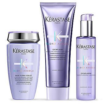 Kerastase Pack Blond Absolu Baño ultravioleta + cicaflash + cicaplasme