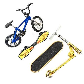 Finger Bicycle Finger Skateboard Toy Set Bicycle+skateboard+vitality