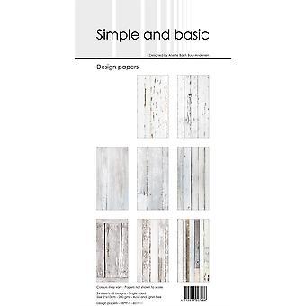 Enkelt och grundläggande vitt trä smalt papperspaket