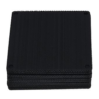 50pcs Black Computer Case Fan Dustproof Dust Filter Fits Standard 80mm Fans