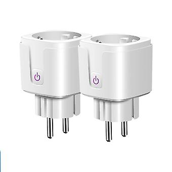 Smart Plug Wifi Socket Eu 16a Power Monitor Timing Function Control Work With