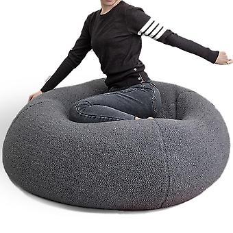 Pehmeä pörröinen villa turkis beanbag suuri kashmir fleece laiska sohva istuin