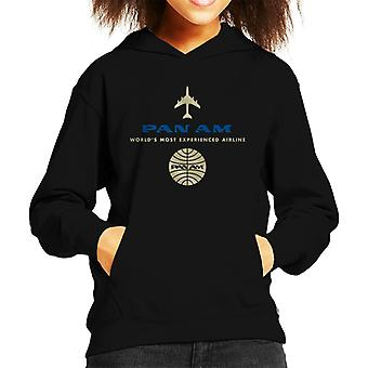 Pan Am Worlds Most Experienced Airline Kid's sudadera con capucha