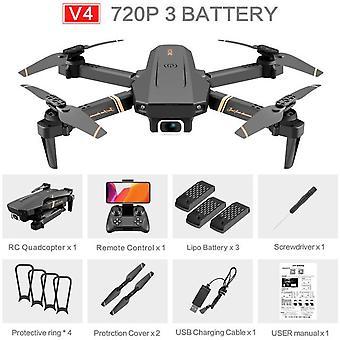 V4 rc drone 4k hd vidvinkelkamera 1080p wifi fpv drone dual camera quadcopter realtid transmission helikopter leksaker