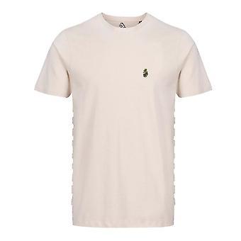 Luke | Well Raised M590137 Embossed Side Logo T-shirt - Ecru