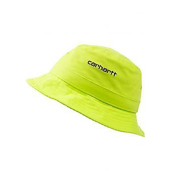 Unisex hat wip carhartt wip script bucket hat i026217.limeblk