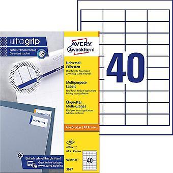 HanFei 3657 Universal Etiketten (4.000 Klebeetiketten, 48,5x25,4mm auf A4, Papier matt, individuell