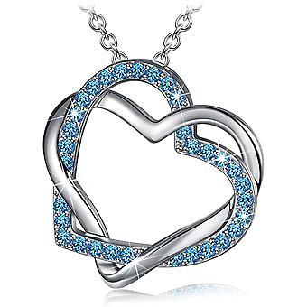 HanFei Valentinstag Damen Halskette, Anhnger Kette, Blau Zirkons von Österreich, Geschenk fr Frauen,