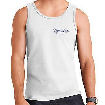 Cafe del Mar Classic Blue Logo Pocket Print Men's Vest