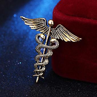 Hot Retro Angel Wings Brooches Badge Pin For Shirt Collar