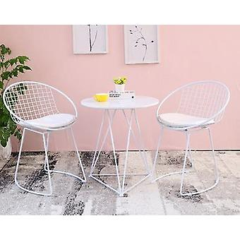 Furniture Sets Modern Simple Backrest Leisure Small Round Table Chair