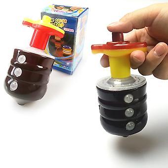 Tongina 3 Sets Kids Luminous Spinning Top Light Up Flashing Music Sound Tops Toys