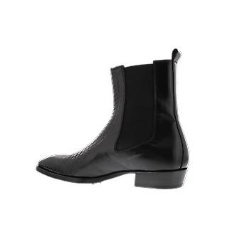 Jo Ghost Phyton with Calf Leather Black 202 shoe