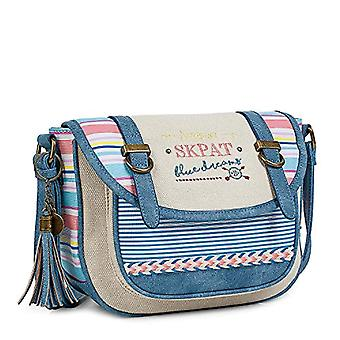 SKPAT - Women's crossbody bag. Zippered and flan. Front and back pockets. small. Ideal for all Refs. 8435337042560