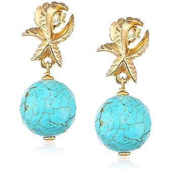 Misis - Silver Pendulum and Drop Earrings 925 Silver 925 Silver with Turquoise Or09009