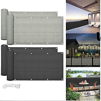 Balkon Privatsphäre Bildschirm Zaun Abdeckung Privatsphäre Bildschirm UV-Resistant Sichtbarkeit Reduzierung Zaun Bildschirm für Balkon Wohnung Hinterhof Patio Veranda Garten 0,9 * 5 Meter