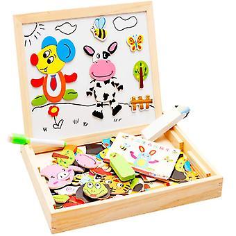 Piękny 3D Magnetyczne Puzzle Boczne Puzzle Tangram Dzieci Edukacyjne Zabawki Zabawki Boy Girl Zabawki| Bloki