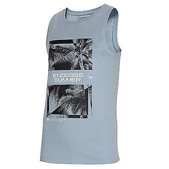 4F TSM033 H4L21TSM033JASNYNIEBIESKI universal miesten t-paita