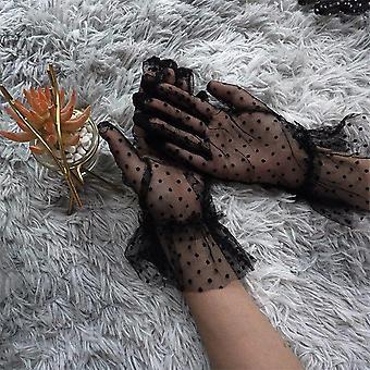 Grace Podzimní letní ženy krátké tylové rukavice