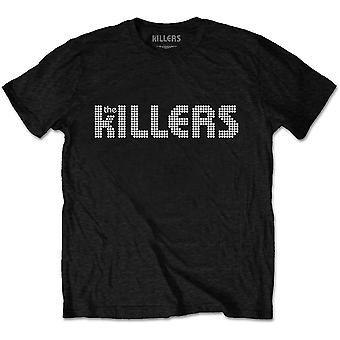 The Killers - Dots Logo Men's X-Large T-Shirt - Black