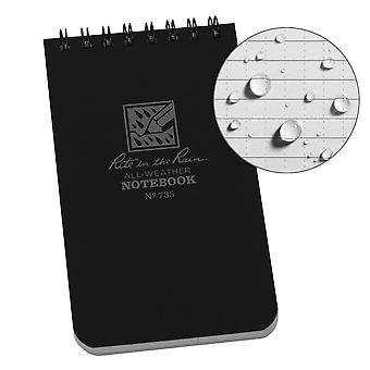Rite In The Rain Universal Notebook 3 x 5 Inch - Black
