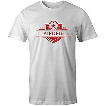 Sporting empire airdrieonians 2002 established badge football t-shirt