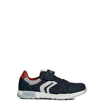 Geox Boys Alfier Leather Trainers