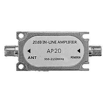 Jasen JS-20A Satellite 20db In Line Amplifier 950-2150 Mhz Booster