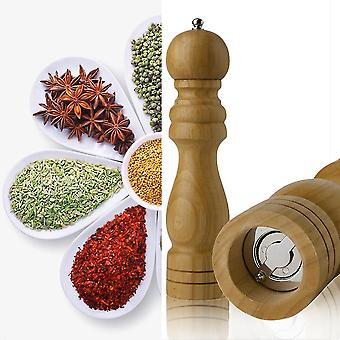 4/5/8 Inch Manual Wood Pepper Salt Spice Corn Mill Grinder Home Kitchen Tool