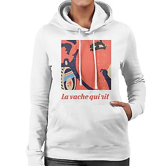 The Laughing Cow Earring Close Up Women's Hooded Sweatshirt