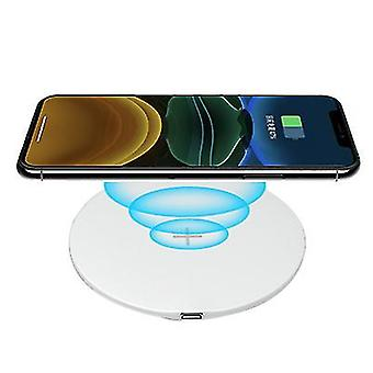 QI15W mobile phone wireless fast circular charger for Apple iphone 12(White)