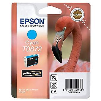 Epson Original T0872 UltraChrome Hi-Gloss2 Cartouche d'encre cyan, authentique, Amazon Dash Replenishment Ready