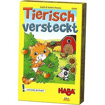 304248 - Tierisch versteckt, Kinderspielklassiker als Mitbringspiel für 2-4 Spieler von 3-99 Jahren