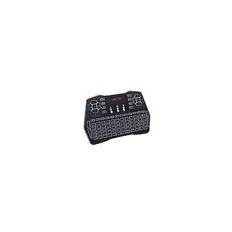 i8 Plus 2.4G luce bianca Wireless Mini Touchpad Tastiera Air Mouse Airmouse per TV Box Mini PC