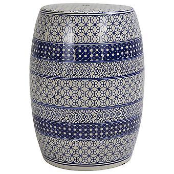 Fin Asiatiskliving Keramisk Hage Krakk Kinesisk Porselen Håndlaget D33xH46cm