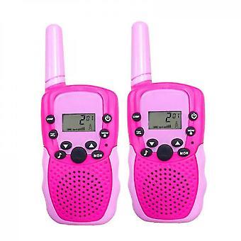 2pcs Children's Walkie Talkie,parent Child Interactive Toys(Pink)