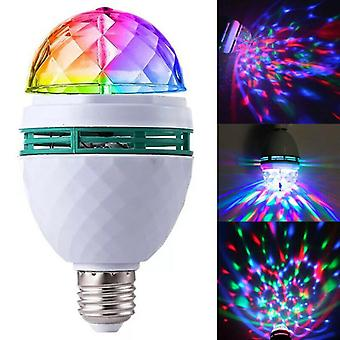 3W Automatic Rotating Crystal Ball RGB LED Stage Lamp Lamp Dj Disco Party