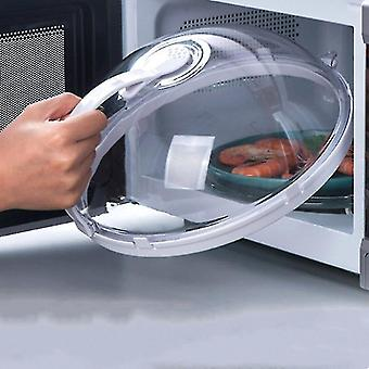 Microwave Food Anti-Sputtering Cover With Handle For Microwave Food Heat Resistant Lid(White)
