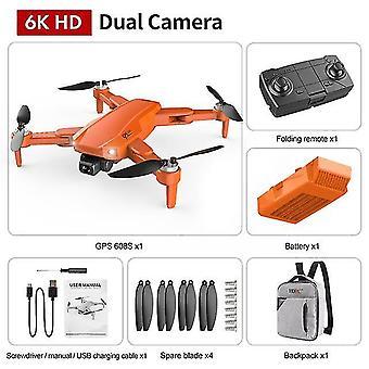 Hkna nieuwe s608 gps drone 6k dual hd camera professionele luchtfotografie borstelloze motor opvouwbaar