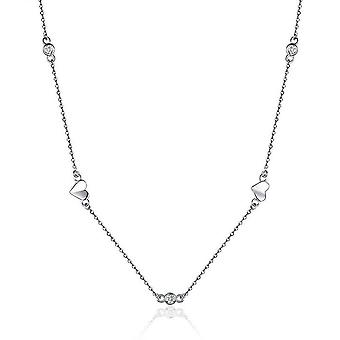 Necklace Chain Floding Heart Link Silver plating Necklaces for Women Short Colliers