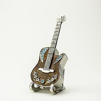 Gitarre auf Stand-Schmuck-Box